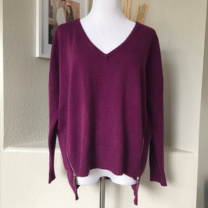 BISOU BISOU Slouch Plum Sweater 00663